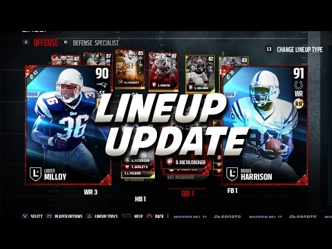 MARVIN HARRISON OR LAWYER MILLOY? MADDEN 17 ULTIMATE TEAM LINEUP UPDATE