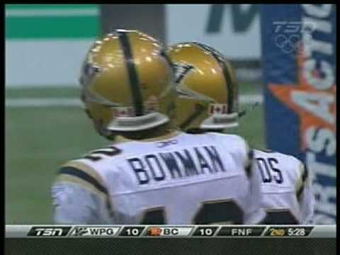 CFL - Michael Bishop - Touchdown Pass to Terrence Edwards