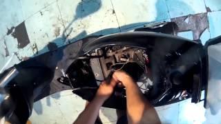 Снятие двигателя Honda dio AF 34/ 35 (исходник)