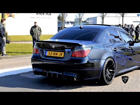 (TRON) BMW M5 E60 & F10 Revs, DRIFTING & Acceleration SOUNDS!