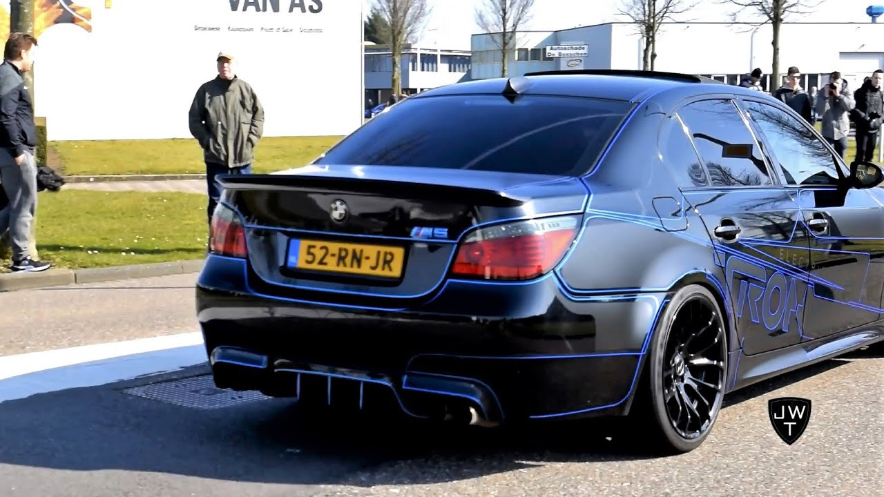 tron bmw m5 e60 f10 revs drifting acceleration sounds youtube. Black Bedroom Furniture Sets. Home Design Ideas