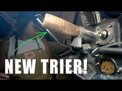 Roasting Honduras Copan  Trying   the new trier   blkcity coffee vlog