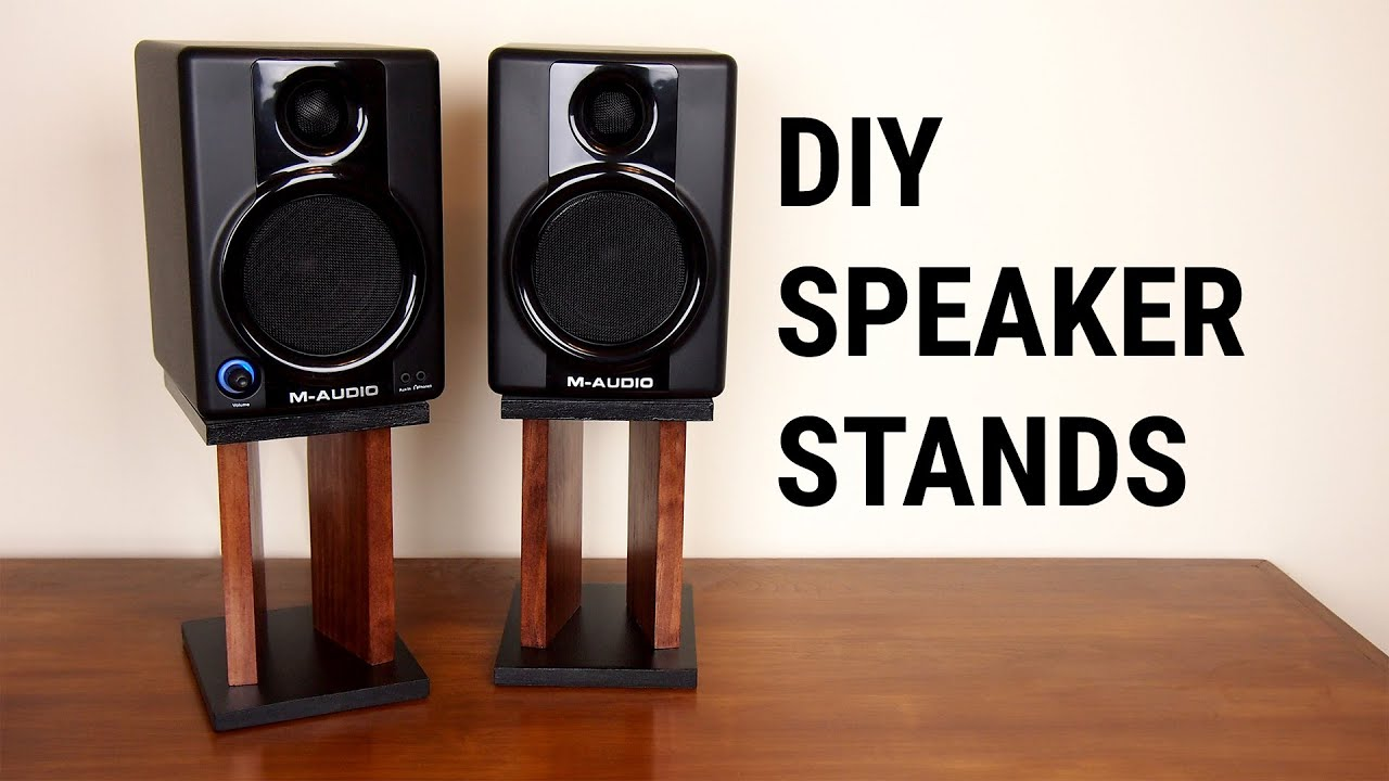 diy speaker stands - youtube