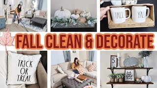 FALL CLEAN AND DECORATE WITH ME 2019 // FARMHOUSE FALL DECORATING IDEAS