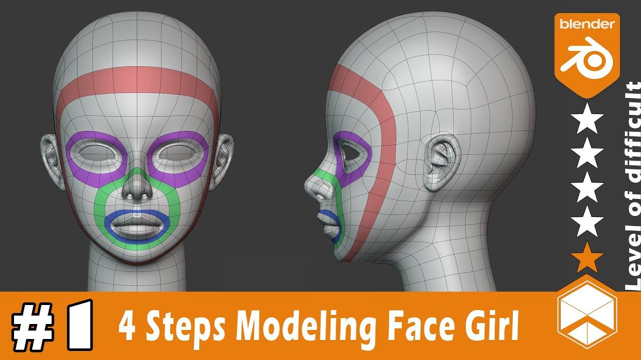 Blender Girl Face Easy Modeling Tutorial In 30 Minutes [ENG sub]   Nhij Quang