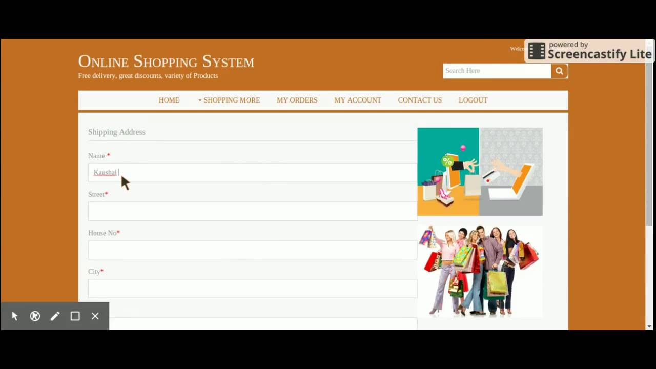 Jsp And Java Project In Online Shopping System Youtube