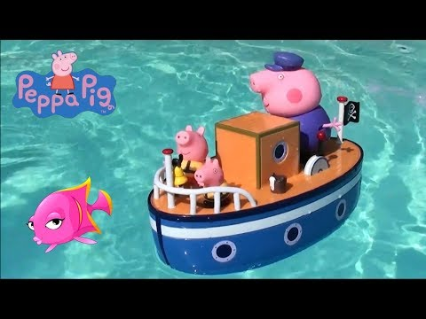 Thumbnail: Peppa Pig: Disney Minnie Mouse Party Boat and Peppa Pig and Grandpa Pig Pirate Boat Toy Set Story