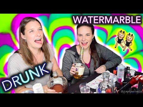 Drunk Sister Watermarble Nails (an unhelpful tutorial)