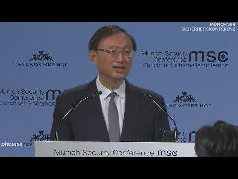 Münchner Sicherheitskonferenz - Rede von Yang Jiechi am 16.02.19