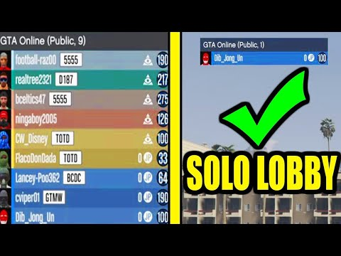 GTA 5: How to Join EMPTY Public Lobby | WORKING SOLO PUBLIC LOBBY GLITCH (PS4/Xbox One/PC) (UPDATED)