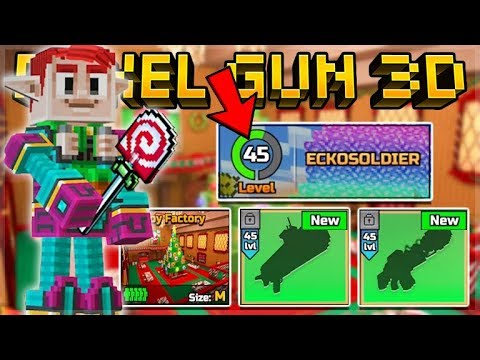 NEW MAX LEVEL 45!! NEW WEAPONS, MAPS, WEAPON SKINS & CHRISTMAS UPDATE 15.6.0 | Pixel Gun 3D