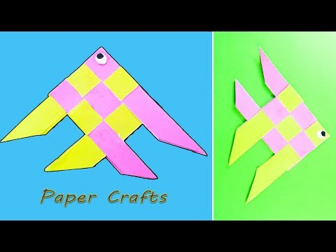 Fish 🐠 - Paper Folding Craft DIY | Moving Paper Fish Nemo | Paper Crafts for Kids | NK Crafts