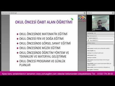 KPSS 2016 ÖABT Alan Okul Öncesi Giriş 1