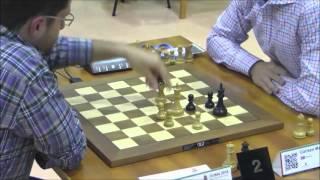 Aronian winning but fails to defeat Magnus Carlsen
