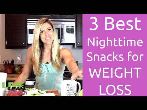3 Best Nighttime Snacks for WEIGHT LOSS | LiveLeanTV
