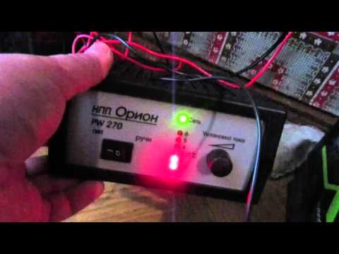 сколько заряжается аккумулятор автомобиля от зарядного устройства орион