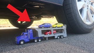 Transporter Truck and Toy Cars VS CAR