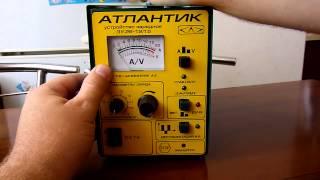 Обзор + тест зарядного устройства автомобильных аккумуляторов АТЛАНТИК 15А