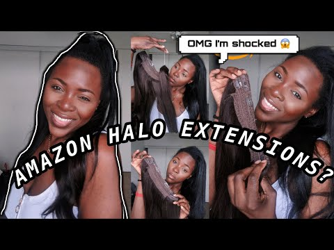 TRIED HALO HAIR EXTENSIONS FROM AMAZON FOR THE FIRST TIME AND..