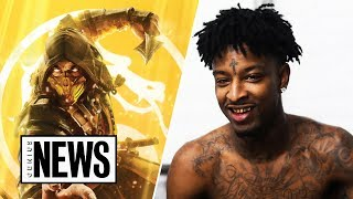 """Gambar cover 21 Savage's 'Mortal Kombat' Inspired """"Immortal"""" Explained 
