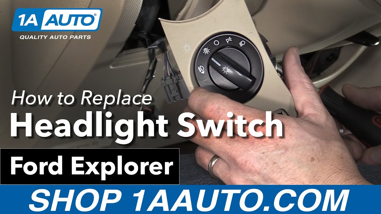 How to Replace Headlight Switch 06-10 Ford Explorer