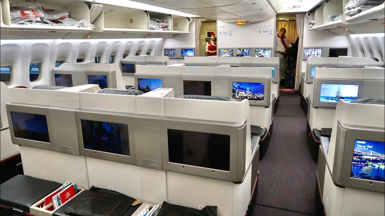 Turkish Airlines Boeing 777 Business Class  - Hong Kong to Istanbul