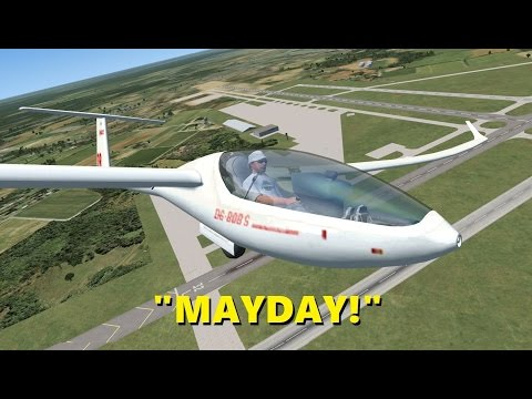 GLIDER Pilot Declares EMERGENCY! (Trolling in Flight Sim X Multiplayer)