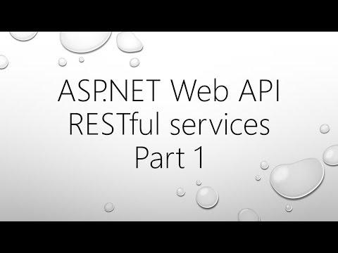 ASP.NET Web API and RESTful Services - Part 1