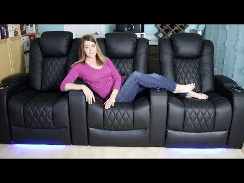 Valencia Home Theatre seating review - motorized, LED lights & power