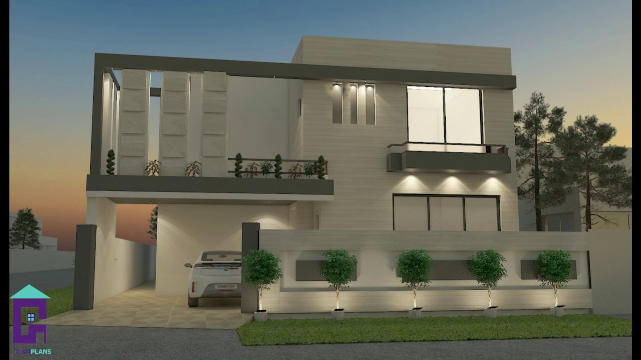 Latest House Front Elevations In Pakistan House 3d Elevations Of Small To Large Houses Youtube