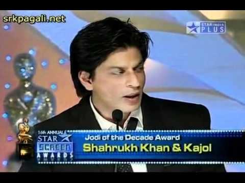 YouTube - Shahrukh - Kajol (Best Jodi of the Decade) -16th Annual Star Screen Awards 2010 - HD.flv thumbnail