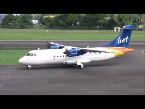 LIAT ATR 42-600 Flight from Beef Island @ E.T Joshua (1080p)