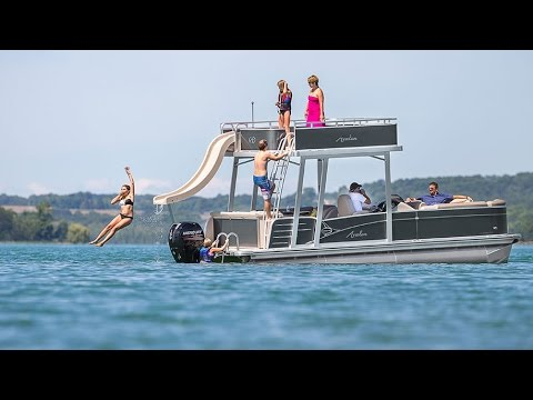 2017 Pontoon Boat AVALON FUNSHIP | Boats with water slides, sundecks, and more