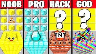 Minecraft Battle: SUPER PIT CRAFTING CHALLENGE - NOOB vs PRO vs HACKER vs GOD ~ Funny Animation