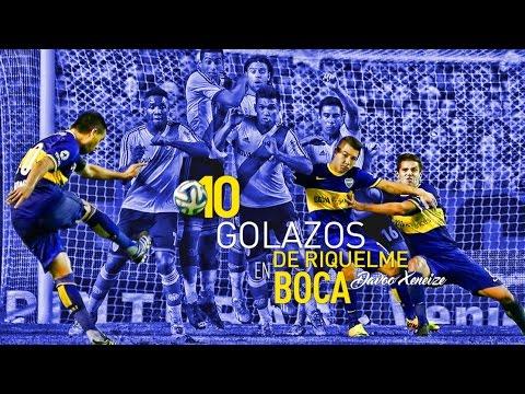 10 golazos de Juan Roman Riquelme en Boca