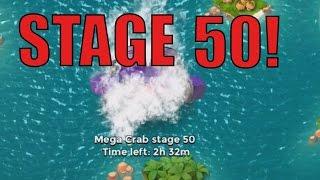 THE LEADERBOARD! | Boom Beach | MEGA CRAB STAGE 49 -50