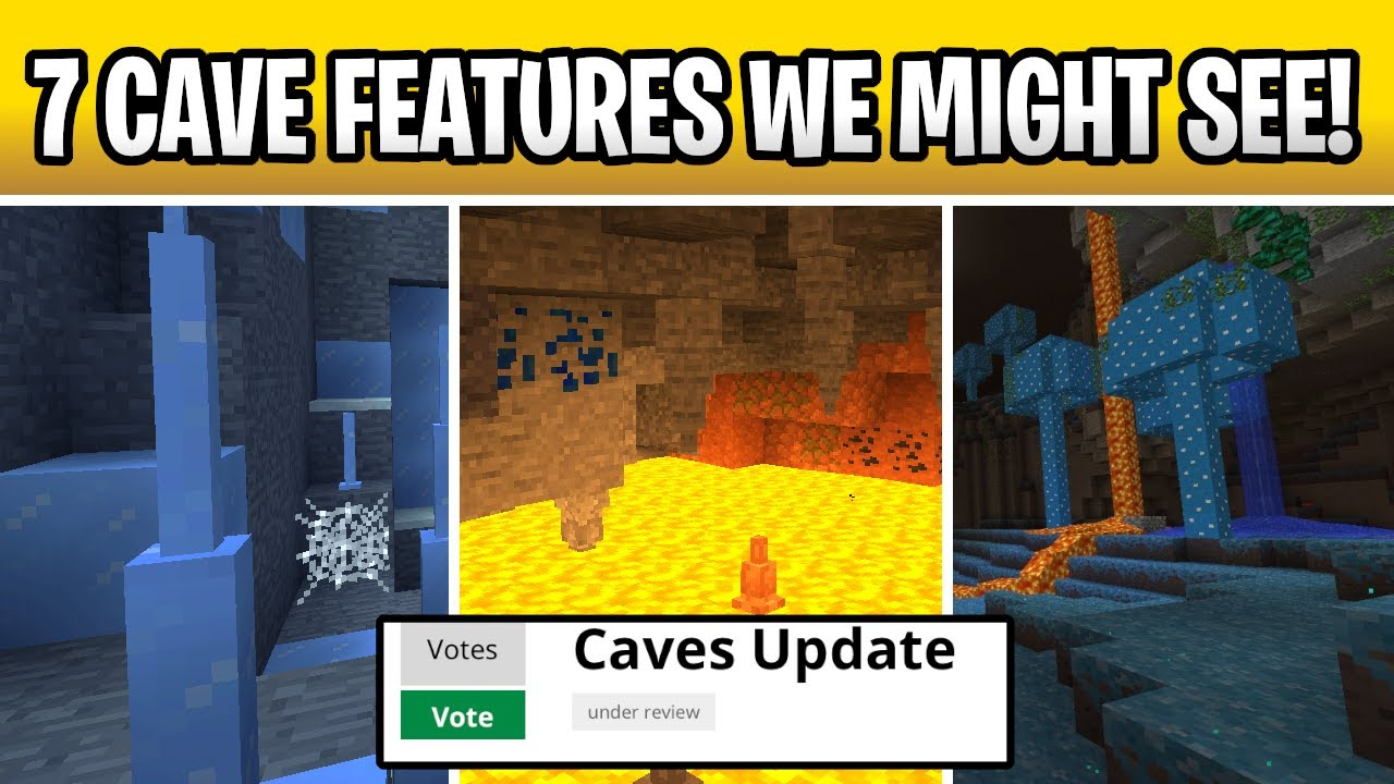 Minecraft 1.18 Cave Update? All Cave Features So Far!