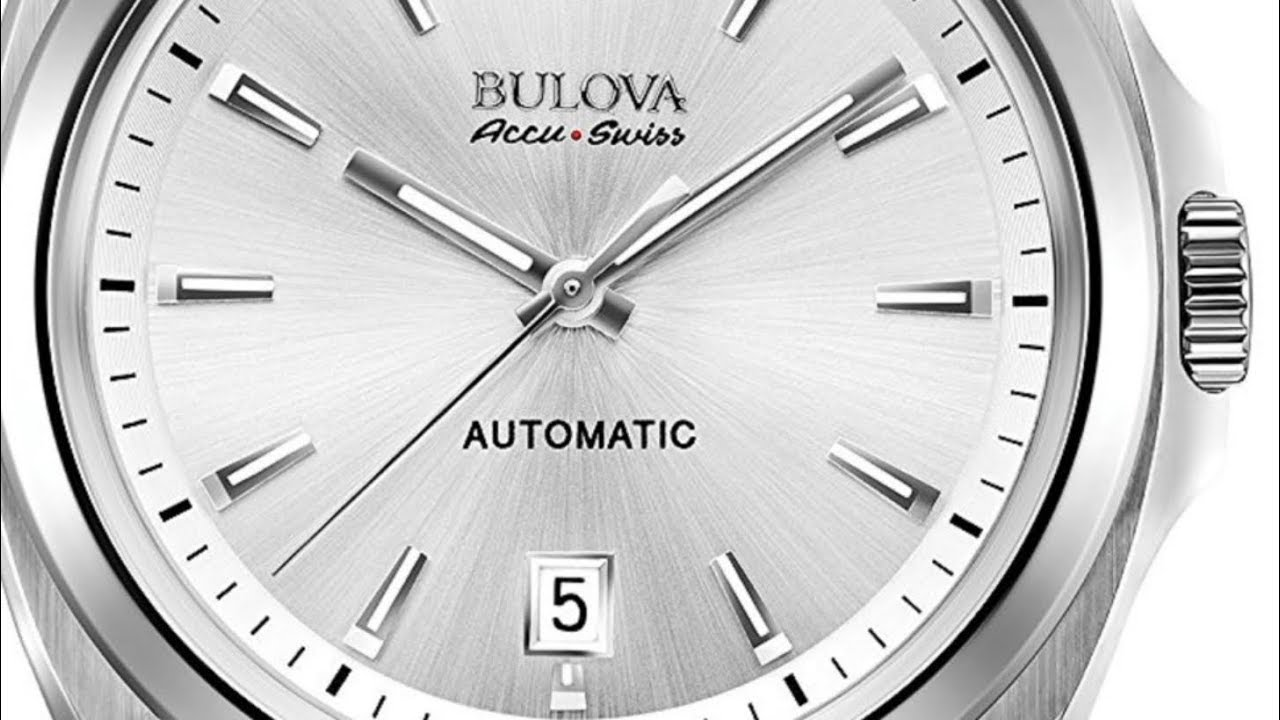 3ef91e7b9 Bulova Automatic Accu Swiss Men's Mechanical Hand Wind Black Strap Watch