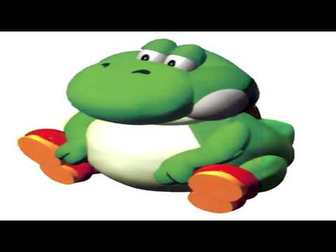 Yoshi's voice but pitched down so he sounds like a grown man