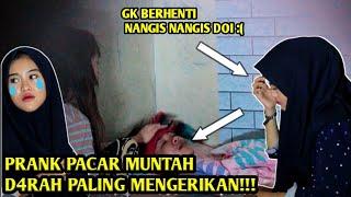 PRANK MUNTAH DARAH KE PACAR!! SAMPAI NANGIS!!.