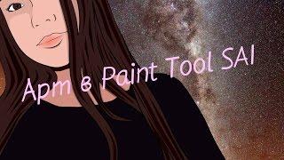 Рисуем арт в Paint Tool SAI/ Сай 1 урок