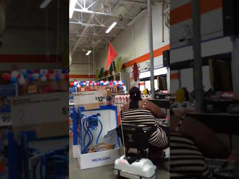 Ghetto Woman Freaks out in Home Depot