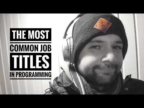 The most common job titles in programming