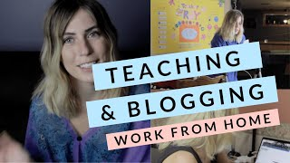 DAY IN THE LIFE: WORKING FROM HOME | ONLINE TEACHING (PALFISH) & BLOGGING (2019)
