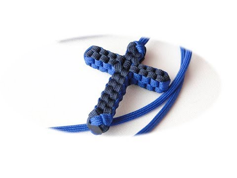 How to Make a Paracord Cross/Necklace-Bonus Tutorial: How to install a Charm by CreationsByS