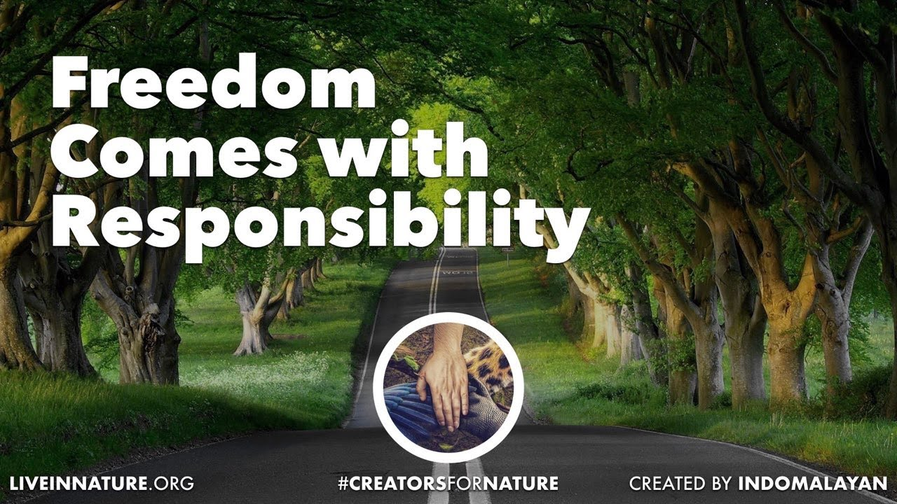 Freedom comes with Responsibility | Creators for Nature