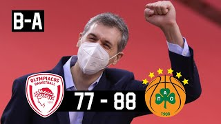 Olympiacos - Panathinaikos 77-88 | Panathinaikos Highlights • Euroleague Round 24 | 5.2.2021