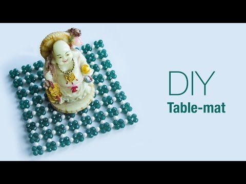 How to make table mat   DIY beaded table mat   Home decoration ideas   Beads art