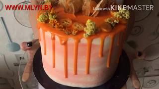 Бисквитный торт с малиной и сливочным кремом