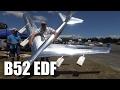 Large EDF B52 RC plane interview